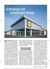 Titelbild der Ausgabe 7/2011 von Lidl: Aufholjagd mit renoviertem Image. Zeitschriften als Abo oder epaper bei United Kiosk online kaufen.