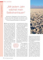 """Titelbild der Ausgabe 8/2008 von Die Jungsetterin: """"Mit jedem Jahr wächst mein Selbstvertrauen"""". Zeitschriften als Abo oder epaper bei United Kiosk online kaufen."""