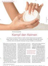 Titelbild der Ausgabe 6/2015 von Konservierungsmittel: Kampf den Keimen. Zeitschriften als Abo oder epaper bei United Kiosk online kaufen.