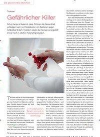 Titelbild der Ausgabe 6/2015 von Triclosan: Gefährlicher Killer. Zeitschriften als Abo oder epaper bei United Kiosk online kaufen.