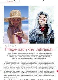 Titelbild der Ausgabe 6/2016 von Kosmetik à la Saison? Pflege nach der Jahresuhr. Zeitschriften als Abo oder epaper bei United Kiosk online kaufen.