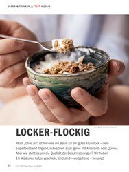 Titelbild der Ausgabe 10/2018 von TEST MÜSLIS: LOCKER-FLOCKIG. Zeitschriften als Abo oder epaper bei United Kiosk online kaufen.