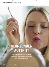 Titelbild der Ausgabe 10/2019 von TEST LIPGLOSS: GLÄNZENDER AUFTRITT. Zeitschriften als Abo oder epaper bei United Kiosk online kaufen.