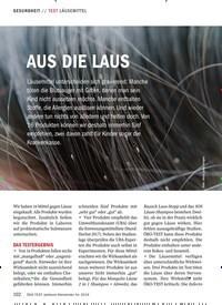Titelbild der Ausgabe 1/2019 von TEST LÄUSEMITTEL: AUS DIE LAUS. Zeitschriften als Abo oder epaper bei United Kiosk online kaufen.