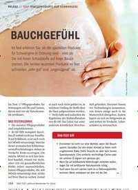 Titelbild der Ausgabe 1/2019 von TEST PFLEGEPRODUKTE FÜR SCHWANGERE: BAUCHGEFÜHL. Zeitschriften als Abo oder epaper bei United Kiosk online kaufen.