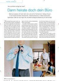 Titelbild der Ausgabe 9/2014 von Wie viel Arbeit verträgt die Liebe? Dann heirate doch dein Büro. Zeitschriften als Abo oder epaper bei United Kiosk online kaufen.