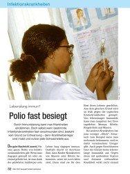 Titelbild der Ausgabe 12/2008 von Lebenslang immun? Polio fast besiegt. Zeitschriften als Abo oder epaper bei United Kiosk online kaufen.