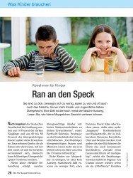 Titelbild der Ausgabe 13/2008 von Abnehmen für Kinder: Ran an den Speck. Zeitschriften als Abo oder epaper bei United Kiosk online kaufen.