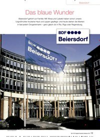 Titelbild der Ausgabe 91/2013 von Beiersdorf: Das blaue Wunder. Zeitschriften als Abo oder epaper bei United Kiosk online kaufen.