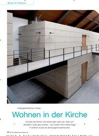 Titelbild der Ausgabe 5/2016 von Außergewöhnlicher Umbau: Wohnen in der Kirche. Zeitschriften als Abo oder epaper bei United Kiosk online kaufen.
