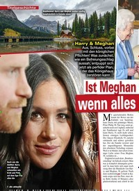 Titelbild der Ausgabe 4/2020 von Titelgeschichte: Ist Meghan erst zufrieden, wenn alles in Scherben liegt?. Zeitschriften als Abo oder epaper bei United Kiosk online kaufen.