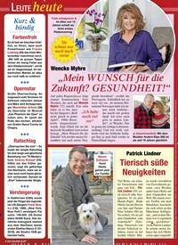 Titelbild der Ausgabe 1/2020 von Leute heute: Kurz & bündig. Zeitschriften als Abo oder epaper bei United Kiosk online kaufen.