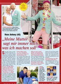 """Titelbild der Ausgabe 2/2020 von Ross Antony (45): """"Meine Mutter sagt mir immer noch, was ich machen soll"""". Zeitschriften als Abo oder epaper bei United Kiosk online kaufen."""