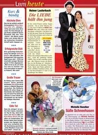 Titelbild der Ausgabe 3/2020 von Leute heute. Zeitschriften als Abo oder epaper bei United Kiosk online kaufen.