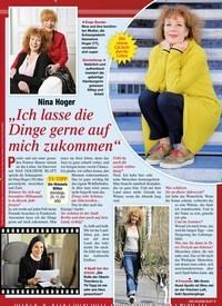 """Titelbild der Ausgabe 4/2020 von Nina Hoger:""""Ich lasse die Dinge gerne auf mich zukommen"""". Zeitschriften als Abo oder epaper bei United Kiosk online kaufen."""