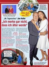 """Titelbild der Ausgabe 5/2020 von """"Mr. Tagesschau"""" Jan Hofer: """"Ich merke gar nicht, dass ich älter werde"""". Zeitschriften als Abo oder epaper bei United Kiosk online kaufen."""