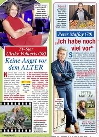 Titelbild der Ausgabe 7/2020 von TV-Star Ulrike Folkerts (58): Keine Angst vor dem ALTER. Zeitschriften als Abo oder epaper bei United Kiosk online kaufen.
