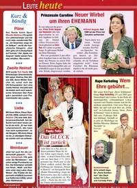 Titelbild der Ausgabe 32/2020 von Leute heute. Zeitschriften als Abo oder epaper bei United Kiosk online kaufen.