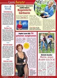 Titelbild der Ausgabe 33/2020 von Leute heute: Kurz & bündig. Zeitschriften als Abo oder epaper bei United Kiosk online kaufen.