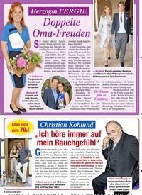 Titelbild der Ausgabe 33/2020 von Herzogin FERGIE Doppelte Oma-Freuden. Zeitschriften als Abo oder epaper bei United Kiosk online kaufen.