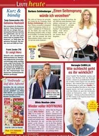 Titelbild der Ausgabe 44/2020 von LEUTE heute: Kurz & bündig. Zeitschriften als Abo oder epaper bei United Kiosk online kaufen.