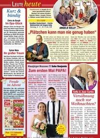 """Titelbild der Ausgabe 49/2020 von Leute heute: ANGELO KELLY """"Plätzchen kann man nie genug haben"""". Zeitschriften als Abo oder epaper bei United Kiosk online kaufen."""