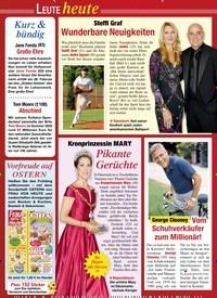 Titelbild der Ausgabe 6/2021 von Leute heute. Zeitschriften als Abo oder epaper bei United Kiosk online kaufen.