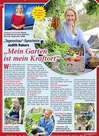"""Titelbild der Ausgabe 6/2021 von """"Tagesschau""""-Sprecherin Judith Rakers: """"Mein Garten ist mein Kraftort"""". Zeitschriften als Abo oder epaper bei United Kiosk online kaufen."""
