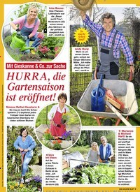 Titelbild der Ausgabe 20/2021 von Mit Gieskanne & Co. zur Sache: HURRA, die Gartensaison ist eröffnet!. Zeitschriften als Abo oder epaper bei United Kiosk online kaufen.