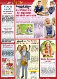 Titelbild der Ausgabe 20/2021 von Stephanie & Guillaume von Luxemburg: Ihr SÖHNCHEN hat ein kleines WUNDER vollbracht. Zeitschriften als Abo oder epaper bei United Kiosk online kaufen.
