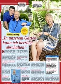 """Titelbild der Ausgabe 20/2021 von Ross Antony: """"In unserem Garten kann ich herrlich abschalten"""". Zeitschriften als Abo oder epaper bei United Kiosk online kaufen."""