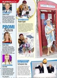 Titelbild der Ausgabe 3/2020 von KLATSCH aktuell: PROMI News. Zeitschriften als Abo oder epaper bei United Kiosk online kaufen.