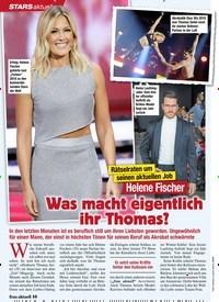 Titelbild der Ausgabe 5/2020 von STARS: Rätselraten um seinen aktuellen Job: Helene Fischer: Was macht eigentlich ihr Thomas?. Zeitschriften als Abo oder epaper bei United Kiosk online kaufen.