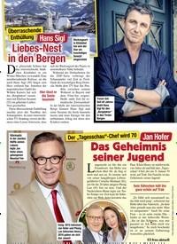 Titelbild der Ausgabe 5/2020 von Überraschende Enthüllung: Hans Sigl: Liebes-Nest in den Bergen. Zeitschriften als Abo oder epaper bei United Kiosk online kaufen.