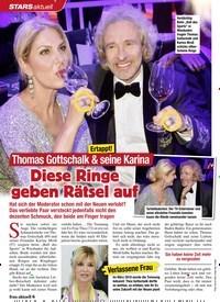 Titelbild der Ausgabe 9/2020 von STARS aktuell: Ertappt!: Thomas Gottschalk & seine Karina: Diese Ringe geben Rätsel auf. Zeitschriften als Abo oder epaper bei United Kiosk online kaufen.