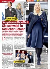 Titelbild der Ausgabe 12/2020 von Corona-Angst! Haakon verzweifelt: Kronprinzessin Mette-Marit: Sie schwebt in tödlicher Gefahr. Zeitschriften als Abo oder epaper bei United Kiosk online kaufen.