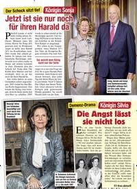 Titelbild der Ausgabe 43/2020 von Der Schock sitzt tief: Königin Sonja: Jetzt ist sie nur noch für ihren Harald da. Zeitschriften als Abo oder epaper bei United Kiosk online kaufen.