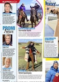 Titelbild der Ausgabe 45/2020 von KLATSCH: PROMI News. Zeitschriften als Abo oder epaper bei United Kiosk online kaufen.