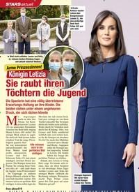 Titelbild der Ausgabe 45/2020 von Königin Letizia: Sie raubt ihren Töchtern die Jugend. Zeitschriften als Abo oder epaper bei United Kiosk online kaufen.