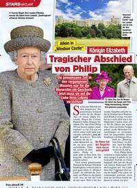Titelbild der Ausgabe 45/2020 von Königin Elizabeth: Tragischer Abschied von Philip. Zeitschriften als Abo oder epaper bei United Kiosk online kaufen.
