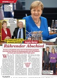 Titelbild der Ausgabe 46/2020 von Ein Freund macht ihr das schöns te Geschenk: Angela Merkel: Rührender Abschied. Zeitschriften als Abo oder epaper bei United Kiosk online kaufen.