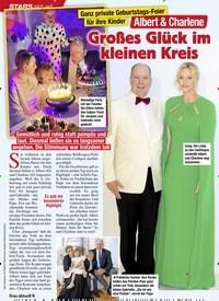 Titelbild der Ausgabe 52/2020 von STARS: Ganz private Geburtstags-Feier für ihre Kinder: Albert & Charlene: Großes Glück im kleinen Kreis. Zeitschriften als Abo oder epaper bei United Kiosk online kaufen.