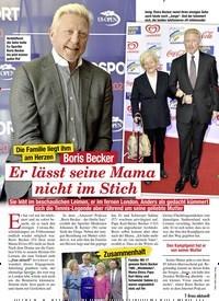 Titelbild der Ausgabe 52/2020 von Die Familie liegt ihm am Herzen: Boris Becker: Er lässt seine Mama nicht im Stich. Zeitschriften als Abo oder epaper bei United Kiosk online kaufen.