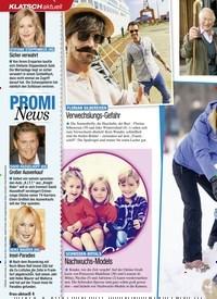 Titelbild der Ausgabe 2/2021 von KLATSCH: PROMI News. Zeitschriften als Abo oder epaper bei United Kiosk online kaufen.