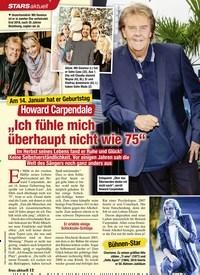 """Titelbild der Ausgabe 2/2021 von STARS: Am 14. Januar hat er Geburtstag: Howard Carpendale: """"Ich fühle mich überhaupt nicht wie 75"""". Zeitschriften als Abo oder epaper bei United Kiosk online kaufen."""