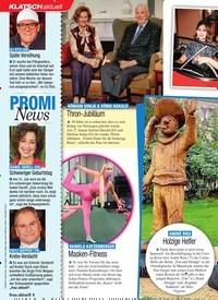 Titelbild der Ausgabe 4/2021 von KLATSCH: PROMI News. Zeitschriften als Abo oder epaper bei United Kiosk online kaufen.
