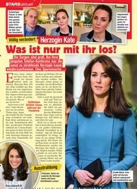 Titelbild der Ausgabe 4/2021 von STARS: Völlig verändert: Herzogin Kate: Was ist nur mit ihr los?. Zeitschriften als Abo oder epaper bei United Kiosk online kaufen.