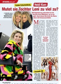 Titelbild der Ausgabe 8/2021 von Fatale Entscheidung: Heidi Klum: Mutet sie Tochter Leni zu viel zu?. Zeitschriften als Abo oder epaper bei United Kiosk online kaufen.