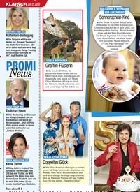 Titelbild der Ausgabe 12/2021 von KLATSCH aktuell: PROMI News. Zeitschriften als Abo oder epaper bei United Kiosk online kaufen.