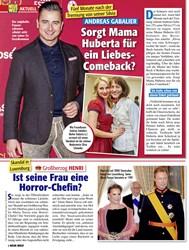 Titelbild der Ausgabe 9/2020 von ANDREAS GABALIER: Sorgt Mama Huberta für ein Liebes- Comeback?. Zeitschriften als Abo oder epaper bei United Kiosk online kaufen.